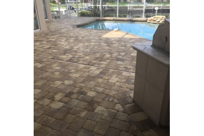 Pool paver remodel after
