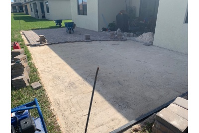 Paver patio installation