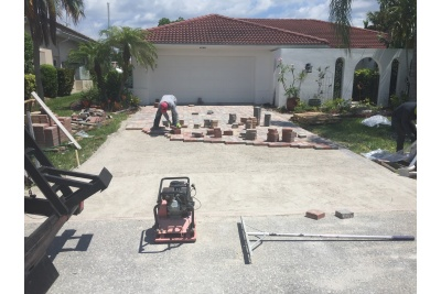 New paver installation