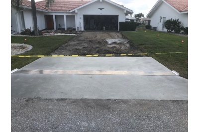 Old driveway removal