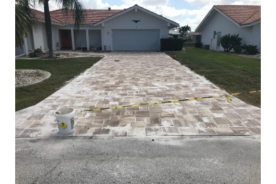 New pavers installed