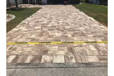 New paver driveway completed