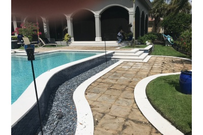 Pool deck renovation progress