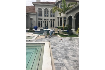 Pool paver installation