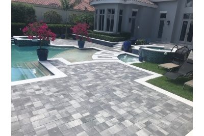 Pool paver renovation after