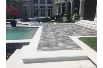 Naples pool deck renovation after