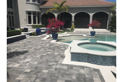 Pool deck renovation after