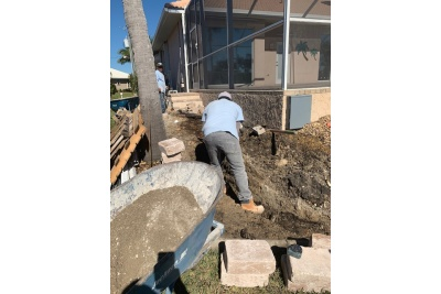 Landscaping and retaining wall construction