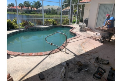 Pool Deck in Venice, FL under construction
